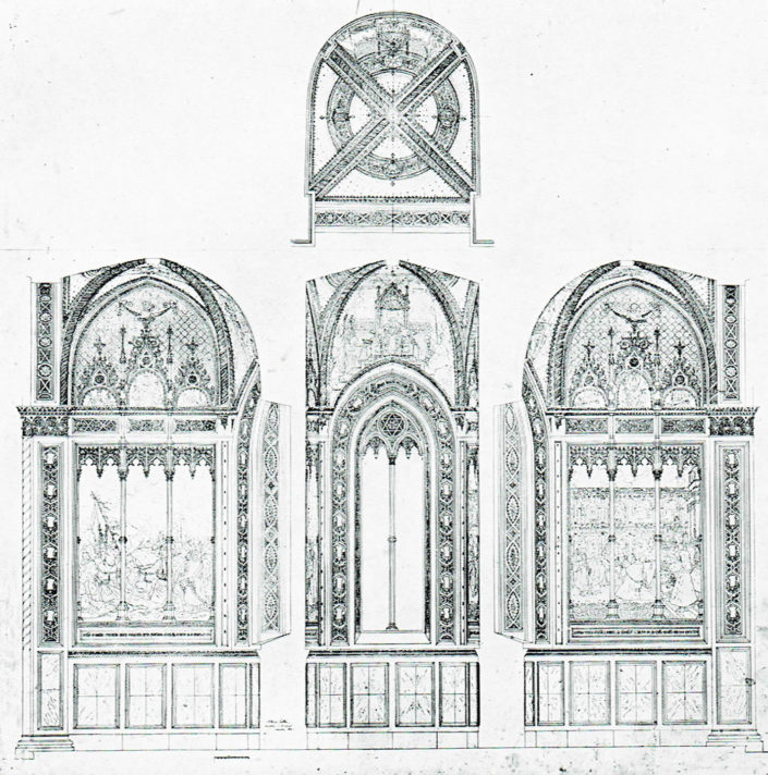 Progetto generale della decorazione della Cappella Polacca