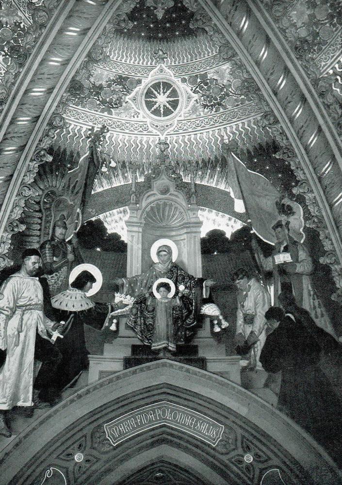 """Apoteosi della Vergine Lauretana """"Regina Poloniae"""" della Cappella Polacca"""
