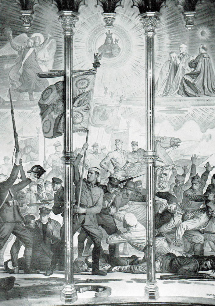 Vittoria di Pilsudski a Varsavia nella Cappella Polacca