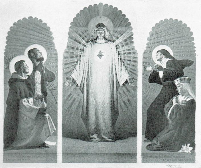 Trittico del S. Cuore di Gesù nella Cappella Polacca