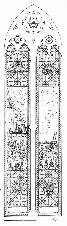 Cartone per la nuova vetrata della Cappella Polacca
